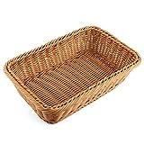 Bread Basket, FenglingTech Wicker Fruit Basket - 11.8 x 7.9 x 2.8 inches - Style D