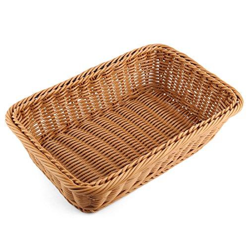 Bread Basket, FenglingTech Wicker Fruit Basket - 11.8 x 7.9 x 2.8 inches - Style D by FenglingTech