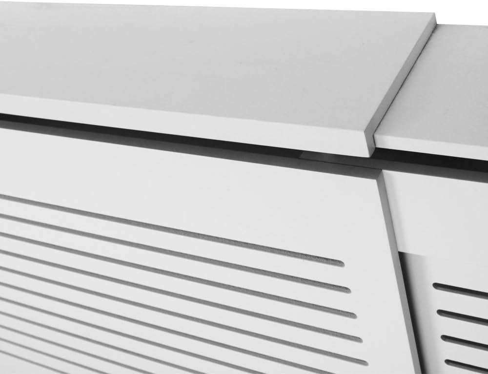 wei/ß. Tinke Heizk/örperverkleidung MDF Lined Screen 1112 x 815 x 190 mm landhausstil Heizung Heizk/örper Verkleidung Abdeckung