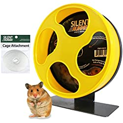 """Silent Runner 9"""" - Exercise Wheel + Cage Attachment - for Hamsters, Gerbils, Mice and Other Small Pets"""