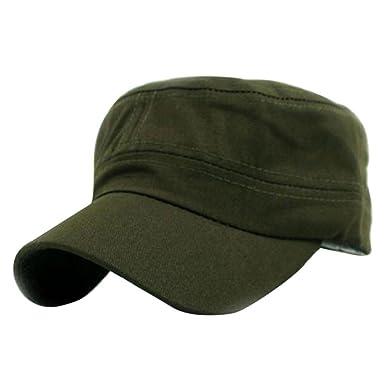 0d9babc81 Jimmkey Classic Plain Vintage Army Military Cadet Style Cotton Cap ...