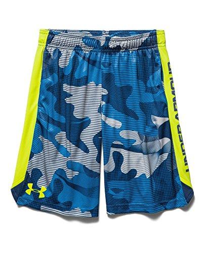 Under Armour Big Boys' UA Eliminator Printed Shorts Youth Small AMERICAN BLUE