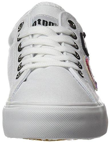 MTNG Attitude Smile Chica, Zapatillas de Deporte para Mujer Blanco (Canvas Blanco)