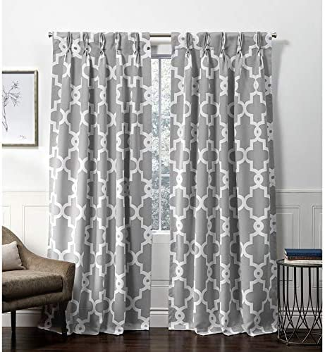 Exclusive Home Curtains Ironwork Pinch Pleat Curtain Panel