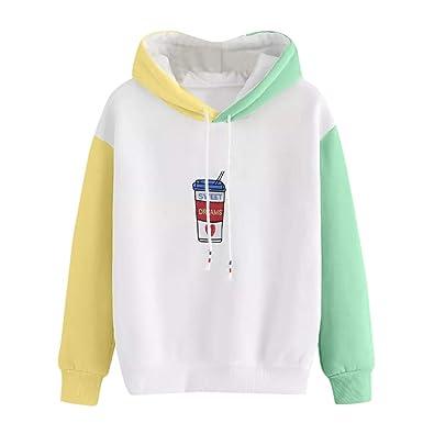 Amazon.com: LandFox Hoodie Sweatshirt,Women Blouse Long Sleeve Print Hooded Pullover Tops Blouse: Clothing