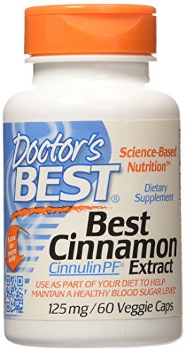 Dr's Best Cinnamon Extract Cinnulin PF (125 mg), 60 vcaps by Doctor's Best
