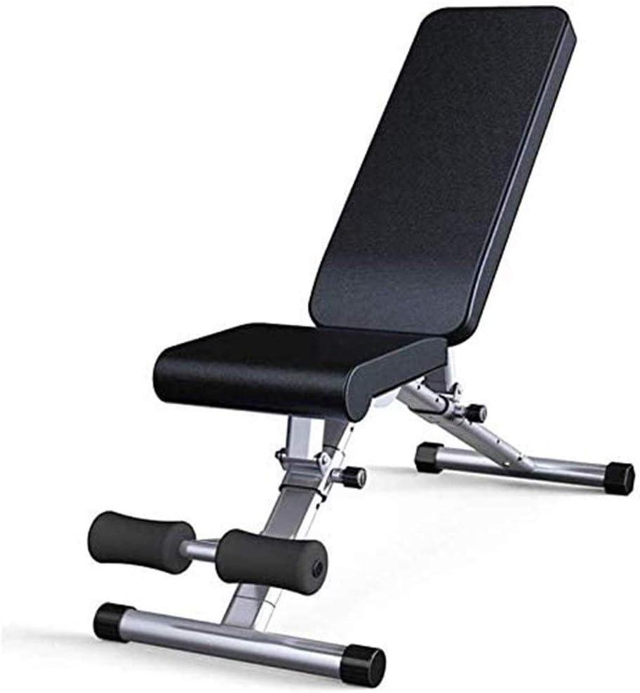 XIAOBUSHI Plegable silla multifunción gimnasio de pesas banco de cama de la prensa en casa abdominales gimnasia for el hogar gimnasio de entrenamiento de levantamiento de pesas Cama rampas plano hacia