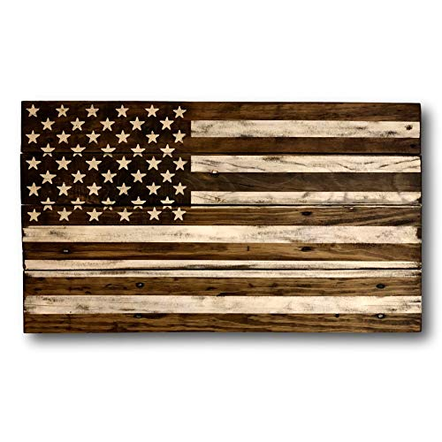 (onepicebest Wood American Flag/Rustic Wood American Flag/Military Gift/Pallet Wood Flag/Americana Decor/Patriotic Decor/Flag Sign)