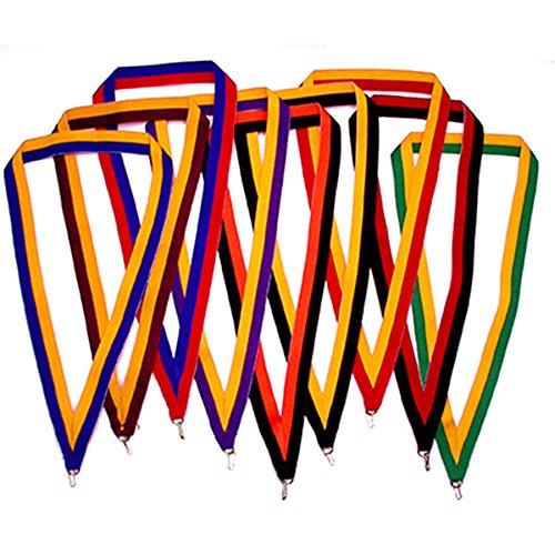 Gold Badge Awards - PinMart 5 Pack - Multi-Color Award Neck Ribbons - BLUE/GOLD