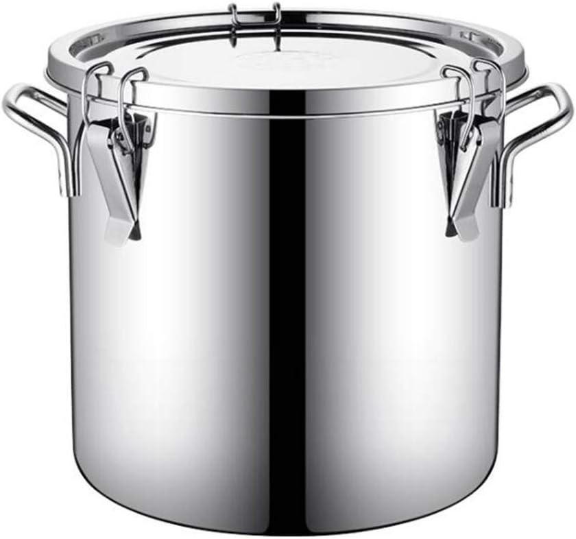 Multiusos cubo olla sellada balde de acero inoxidable de la sopa de arroz balde de casa de almacenamiento de aceite espesado crisol cubo puede ser utilizado for cubo de leche, arroz cubo, cubo de mant
