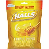 Halls Drops, Honey-Lemon, 80 Count