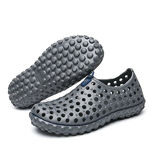Caminar británica Gris Sandalias el 2018 Sandalias Hueco Vamp para Zuecos Aire Hombre para Zapatos Libre al Agua Moda para gxvqxEwBH