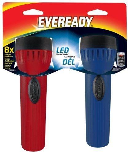 Eveready LED Economy 1D Size Flashlight with Battery (2 Pack)