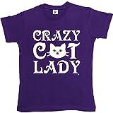 Fancy A Snuggle Crazy Cat Lady Cat Kitten Meow Womens T-Shirt Purple X-Large