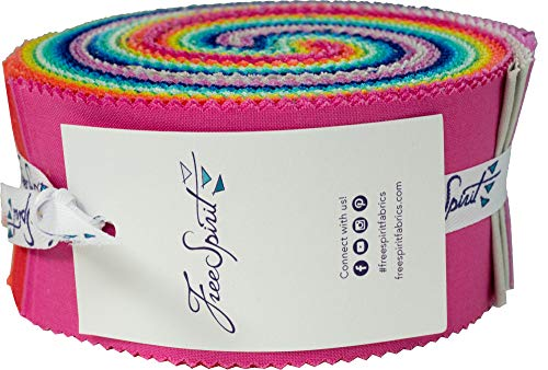 Tula Pink Designer Solids Design Roll 40 2.5-inch Strips Jelly Roll Free Spirit from Free Spirit Fabrics