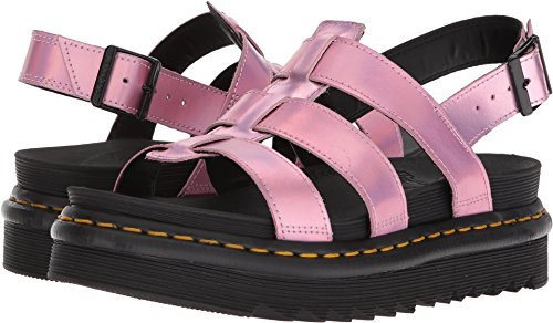 (Dr. Martens Women's Yelena IM Mallow Fisherman Sandal, Pink, 8 Medium UK (10 US))