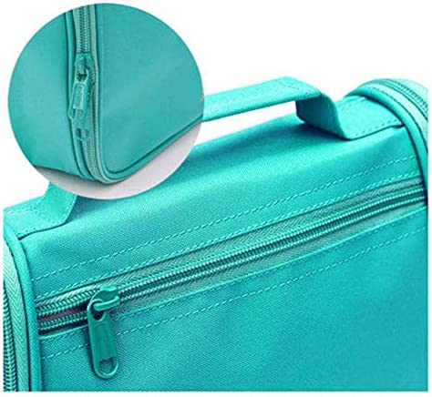 化粧ポーチ トイレタリーバッグトラベルストレージメイクトラベル光とポータブルアンチはね大容量の仕上げバッグ ウォッシュバッグ (色 : 緑, Size : 17x20x8.5cm)