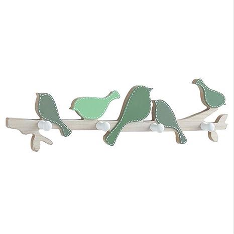 FESSLAND Perchero montado en la Pared de Madera de diseño de ...