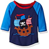 : Mud Pie Baby Toddler Boys' Rash Guard, Pirate Shark, 2T/3T