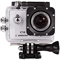 Kemier Soocoo 1.5 Inch LCD Display 1080P 60M Waterproof Outdoor Sports Camera with WIFI, 170° Wide Angle Full HD Lens DV Recorder Diving Action Camera, 2 Batteries and Free Accessories -Silver