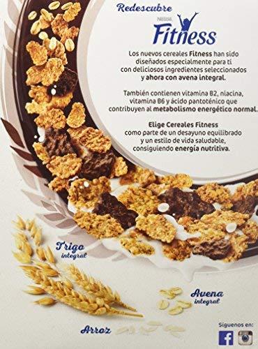 Cereales Nestlé Fitness con chocolate negro - Copos de trigo integral, arroz y avena integral tostados - 16 paquetes de cereales de 375g: Amazon.es: ...