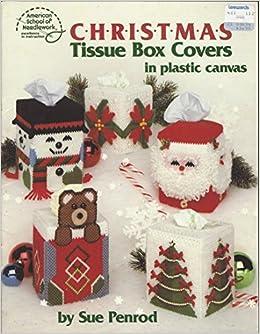 Plastic Canvas Snappy Snowman Tissue Cover Vintage