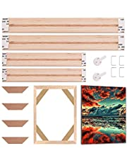 GORGECRAFT Solid Canvas Stretcher Frames Premium Pine Wood Strips Bar Set for Oil Paintings Poster Prints DIY Arts Accessory Materials Supply, 12x8inch