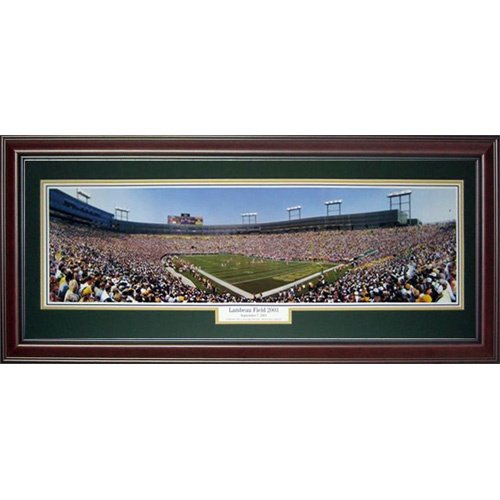 2003 Deluxe Framed - Green Bay Packers (Lambeau Field 2003) Deluxe Framed Panoramic Photo