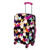 Loveble Suitcase Dust Cover Travel Luggage Cover for 18-29 inch Flexible and Velcro Printed Trolley Case Cover