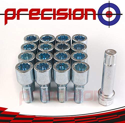 Precision 16 x Chrome Tuner Bolts for ŚUZUKI Swift with Aftermarket Alloy Wheels Part No.16BM17TK+SKEY201