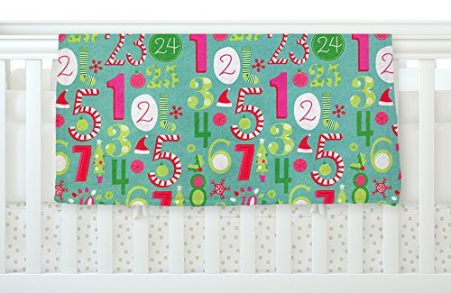 KESS InHouse Heidi Jennnings Merry Countdown Green Pink Fleece Baby Blanket 40 x 30 [並行輸入品]   B077ZPJLMM