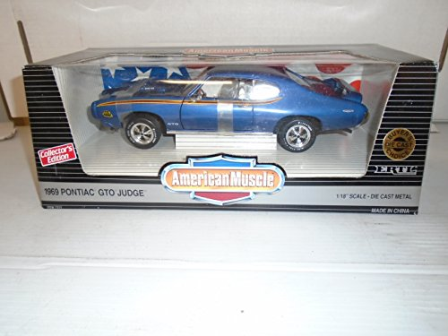 American Muscle 1/18 scale 1969 Pontiac GTO Judge Collectors Edition Navy Blue Buyer