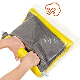 TeroHouse 10 Travel Storage Bags For Clothes Space Saver Packing Sacks - [5x Large 28x20'', 5x Medium 24x16''] Rolling Compression Bag For Luggage. Air Space Roll Up Bags No Vacuum or Pump Needed