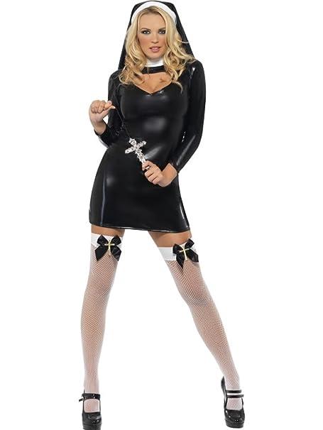 prezzi incredibili caldo-vendita prezzo limitato Costume Carnevale Sexy Suora Lattex -M: Amazon.it: Abbigliamento