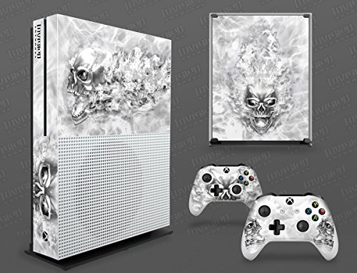 Xbox One S Decal Graphics Cover - NITRO - White