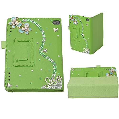 Photo - Evtech(tm) 3d Bling Kindle Fire Hd 7inch Display Tablet (5th Generation - 2015 Release Only) Fole Case Slim Fit Leather Case with Auto Sleep/wake Feature (Green)