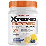 Scivation Xtend Ripped BCAA Powder, Branched Chain Amino Acids, BCAAs, Stimulant Free Muscle Recovery & Fat Burner with CLA & Capsimax, Blueberry Lemonade, 30 Servings