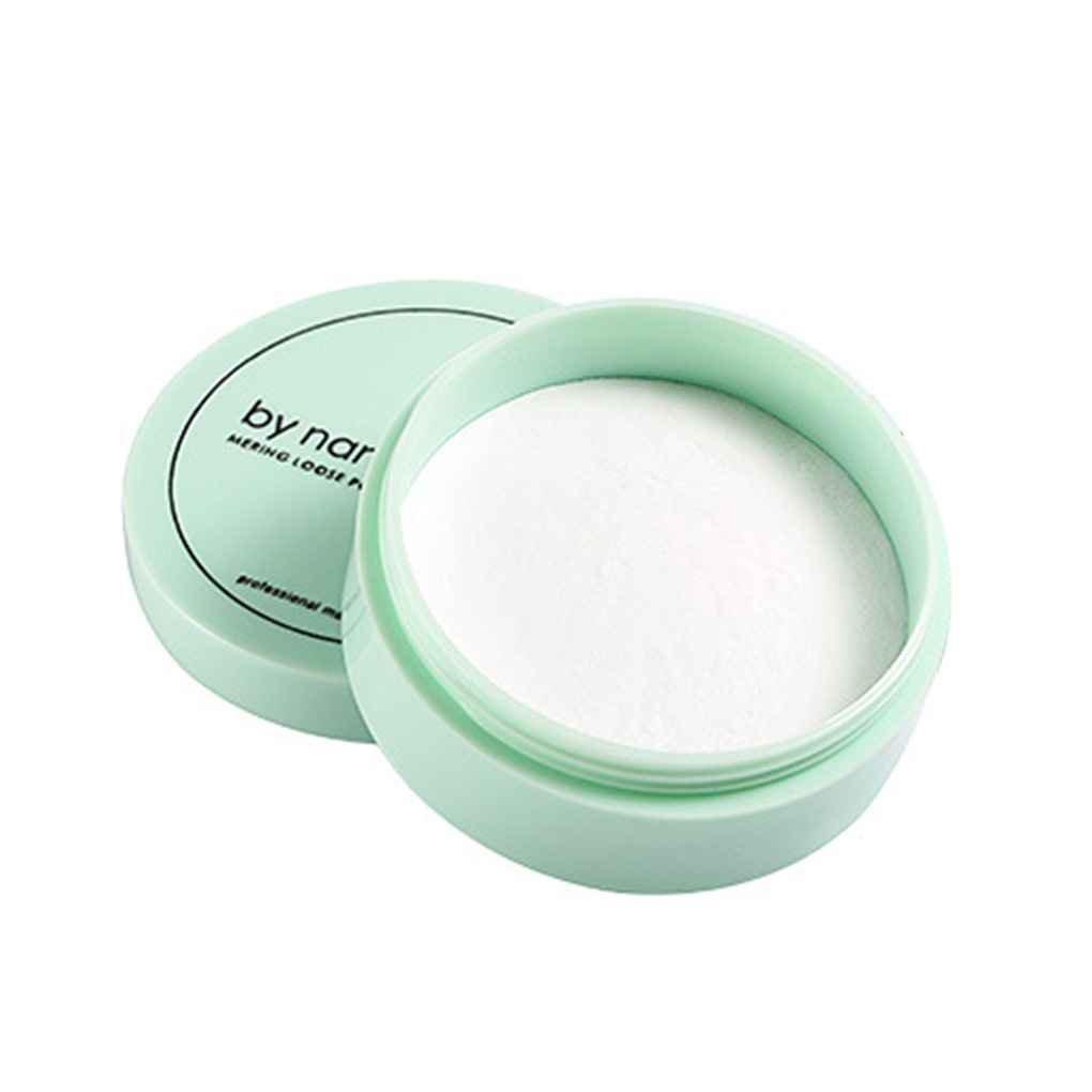 Lorjoy Translucent Pressed Powder con Puff liscia cipria trucco impermeabile in polvere sciolto