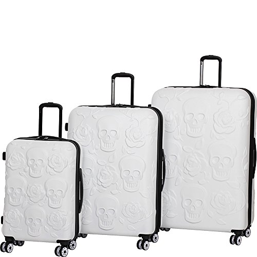 it-luggage-skull-emboss-3-piece-spinner-luggage-set-white