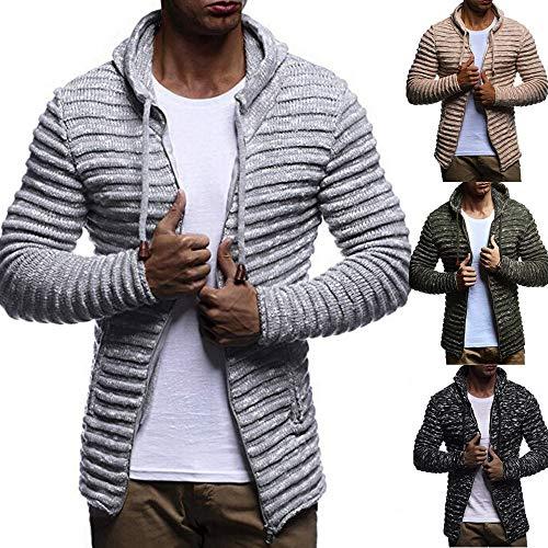 Hiver Blouse Stripe Veste Manteau Noir Longues Manches Malloom Hommes Outwear Automne Solid qafB71w