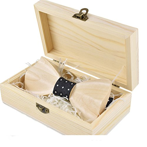 Men Bowties Wooden Bow Ties for Wedding Tuxedo Bow Tie Cravat