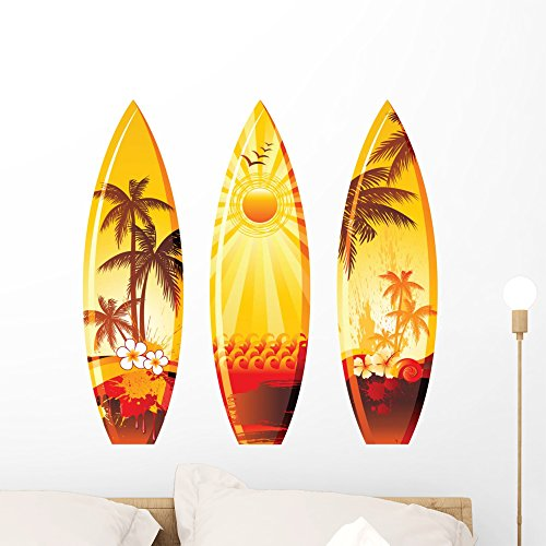 Surf Board Peel and Stick Wall Decals by Wallmonkeys (Easy to Apply)