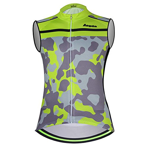 (Sleeveless Cycling Jersey Aogda Men Bicycle Bike Shirts Vest Clothing Biking Bicycle Bib Shorts)
