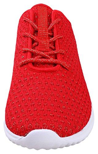 Sport Shoes Casual Red Women's Sneakers Flexible Fashion YILAN ZAwqx