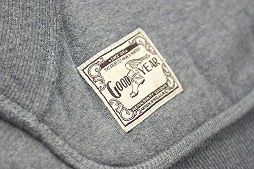 HO-2051 Goodyear Herren Hoodie mit Kapuze grau Marineblau