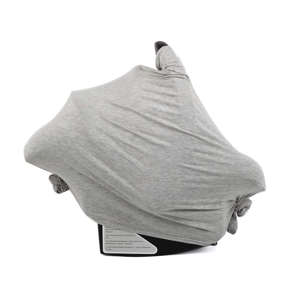 Couverture d'allaitement Housse de siège auto bébé Écharpe d'allaitement Berceau Poussette Chaise Couverture de Panier 29.5X67 (gris) Ltd.