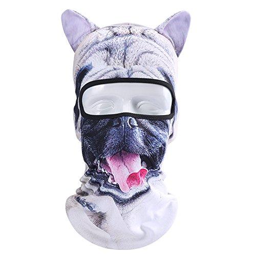 3D Cat Dog Animal Balaclava, Winter Ski Mask Snowboarding Balaclava Motorcycling Mask Full Face Head Hood Windproof Hats for Costume Cosplay Halloween Party