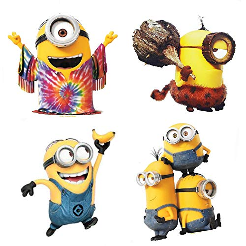 Minions Movie Despicable Me Characters 4 Piece Fridge Magnet Set -
