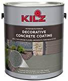 KILZ L378701 Interior/Exterior Slip-Resistant Decorative Concrete Paint, 1 Gallon, Gray