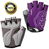 VEBE Women Half Finger Anti-slip Biking Gloves Cycling Riding For Cross-country Road Sports